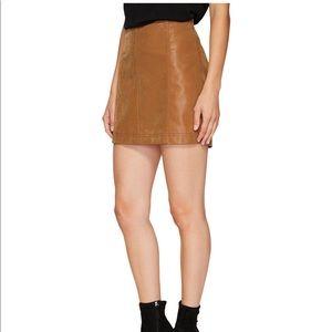Free People Modern Femme Camel Mini Skirt